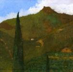 1902 Il monte della Verruca (olio su tela cm 78x93)