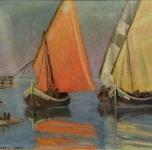1909 Bocca d'Arno, (olio su cartone cm 35x46)