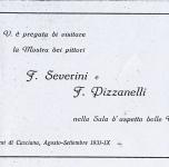 1931 Casciana Terme (Pi)  Mostra dei pittori Pizzanelli e Severini