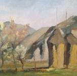 1938, Pagliai, olio su tela, cm 23,5x31,5