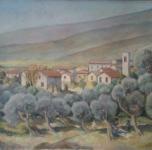 1938, Calci, olio su tela, cm 60x80