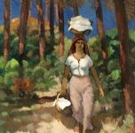 1924  Donna di Torre del Lago (olio su cartone  cm 78x64)