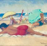 1939 Bagni di sole, olio su cartone cm35x50