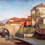 1933  Fosso dei Navicelli (olio su tela  cm 50x69)