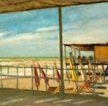 1937 Giornata di Libeccio (olio su cartone cm 35x46. esposto alla VIII Rassegna Provinciale. Fondazione Cassa di Risparmio di Pisa)