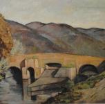1937 Il Ponte della Figuretta (sulla via di S.Giuliano), olio si tela cm 49x70
