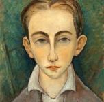 1935  Leo (ritratto del figlio Leonardo, olio su cartone cm 40,5x34,5.  Esposto alla VI Rassegna Provinciale. Fondazione Cassa di Risparmio di Pisa)