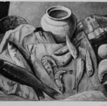 1937 Natura morta con pesci  (esposto alla  VIII Rassegna Provinciale)