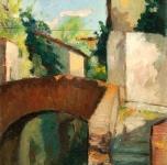 1931  Ponte alle Gondole (olio su tavoletta cm 25x17  Fondazione Cassa di Risparmio di Pisa)