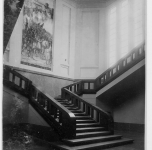 1938 Pisa. Sede Amministrazione Provinciale. Affresco con la partenza dei Pisani per la prima Crociata (distrutto)