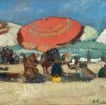 1920 ca  Viareggio (olio su cartone  cm 18x25)