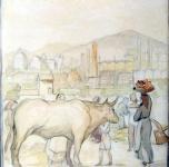 1936 - 40  Allegoria di Pisa (acquerello su carta  cm 25x23)