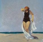 1936 Sulla spiaggia, olio su tavola, cm 35x27