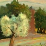 1943 Ricordo dei bei giorni di attesa. Belvedere di Agnano (olio su tavoletta cm 22x31 Fondazione Cassa di Risparmio di Pisa)