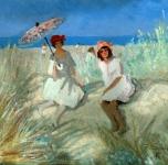 1918  Felicità colma di sole (olio su cartone cm 58x64)
