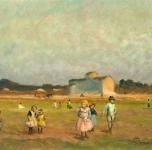 1931 Fine di un giorno (olio su tavoletta cm 26x35. Esposto alla II Rassegna Provinciale. Fondazione Cassa di Risparmio di Pisa)
