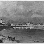 1930 - 35  Fine di un giorno sull'Arno