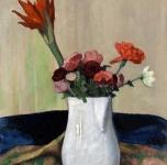 1920 ca  Fiori in una brocca bianca (olio su cartone cm 63x61)