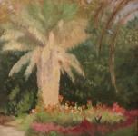 1936 - 40  Gia,rdino  olio su tavoletta  cm 46,2x34,2  sul retro ancora firma e titolo