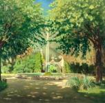 1924  Il Selvatico di Villa Malvicini a Travalle (olio su tela cm 130x149)