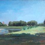 1925 - 30  Le Piagge dal Tondo (olio su tavoletta  cm 35x46)