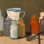 1939  Magazzino (olio su cartone cm 60x75)