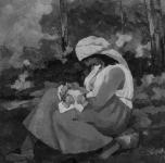 1920 ca  Maternità nel bosco