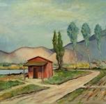 1930 - 35  Paese pisano (olio su tela cm 60x80 Fondazione Cassa di Risparmio di Pisa)