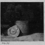 1919 Natura morta con fiori e conchiglia