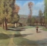 1936 - 40 Paesaggio, olio su tela cm 65x80