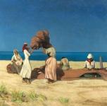 1922 Rammendatori di reti (olio su tela cm 117x171 - presentato al Premio Stefano Ussi, Firenze 1922)
