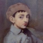 1925-30 Il figlio Antonio (olio su tavoletta cm 44x34)