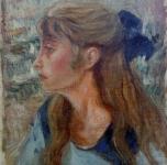 1925 - 30  La cognata Lina Muller  (olio su tela  cm 56x46,5)