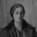 1932 Ritratto di Signora (La moglie Emma Muller. olio su cartone cm 60x50,5. Esposto alla III Rassegna Provinciale, 1932)