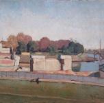 Rovine del Ponte della Vittoria (olio su tavoletta  cm. 34,5x45)