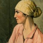 1930 ca Testa di portatrice di legna (olio su tavoletta  cm 57x47,5. Fondazione Cassa di Risparmio di Pisa)