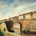 1932  Vecchio Ponte a Piglieri (Fosso dei Navicelli. Olio su tavola cm 47x58  Fondazione Cassa di Risparmio di Pisa)